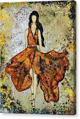 A Stroll Through Autumn Canvas Print by Janelle Nichol