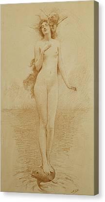 A Study For The Birth Of Love Canvas Print by Solomon Joseph Solomon