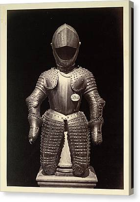 A Suit Of Armour Canvas Print by British Library