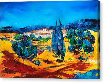 A Sunny Day In Provence Canvas Print by Elise Palmigiani
