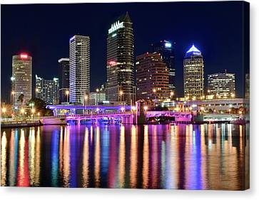 A Tampa Bay Night Canvas Print by Frozen in Time Fine Art Photography