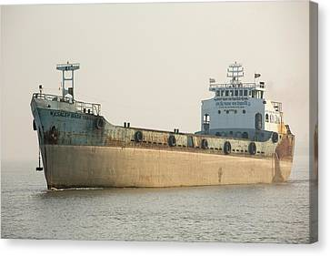 A Tanker In The Sunderbans Canvas Print by Ashley Cooper