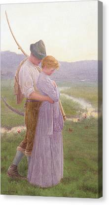 A Tender Moment Canvas Print by William Henry Gore