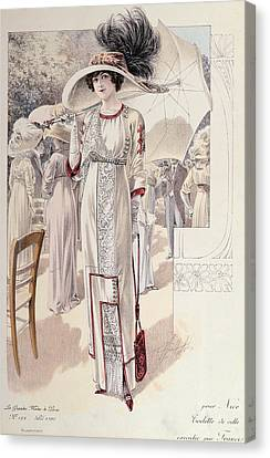 A Town Dress Canvas Print by French School