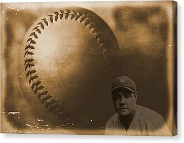 A Tribute To Babe Ruth And Baseball Canvas Print by Dan Sproul