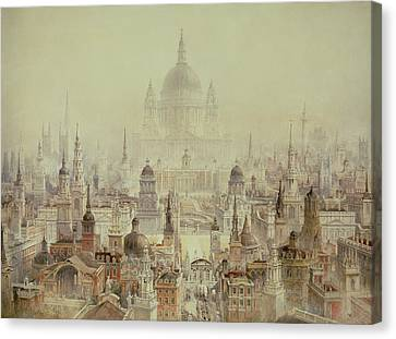 A Tribute To Sir Christopher Wren Canvas Print by Charles Robert Cockerell