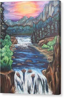 A Trip Thru The Mind Canvas Print by Cheryl Pettigrew