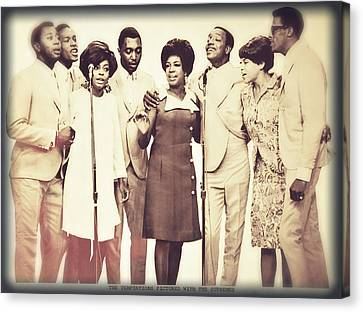 Motown Harmony Canvas Print by Kellice Swaggerty
