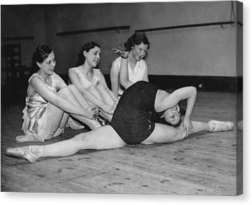 A Very Flexible Woman Canvas Print by Underwood Archives