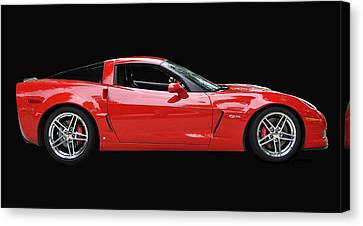 A Very Red Corvette Z6 Canvas Print by Allen Beatty