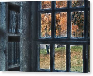 A View From The Library Canvas Print by Susan Candelario