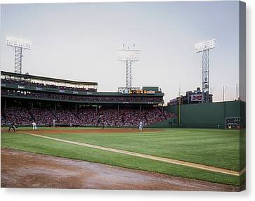 A View From The Right Field Foul Line In Fenway Canvas Print by Mountain Dreams