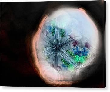 A View Into A Different Dimension Canvas Print by Sandra Pena de Ortiz