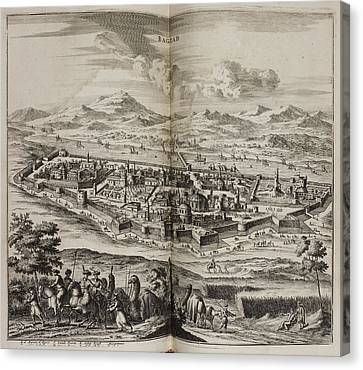 A View Of Baghdad In The 17th Century Canvas Print by British Library