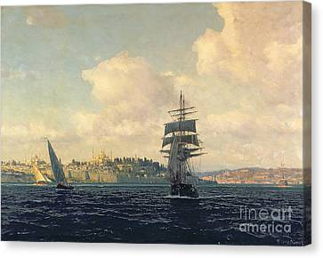 A View Of Constantinople Canvas Print by Michael Zeno Diemer