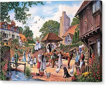 A Village Wedding Canvas Print by Steve Crisp