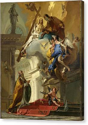 A Vision Of The Trinity Canvas Print by Giovanni Battista Tiepolo
