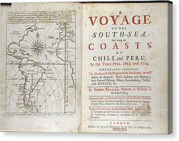 A Voyage To The South Sea Canvas Print by British Library