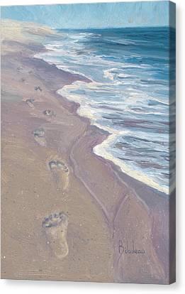 A Walk On The Beach Canvas Print by Lucie Bilodeau