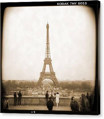 A Walk Through Paris 5 Canvas Print by Mike McGlothlen