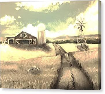 A Warm Welcome Antique Canvas Print by Shana Rowe Jackson