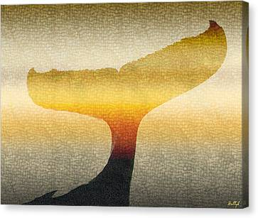 A Whales Tale Canvas Print by Holly Kempe