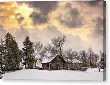 A Winter Sky Canvas Print by Steve Harrington