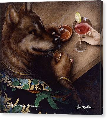 A Wolf And Cheap Clothing... Canvas Print by Will Bullas