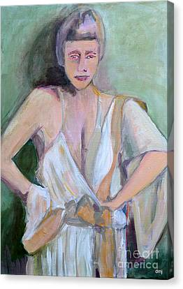 A Woman In Love Canvas Print by Diane montana Jansson