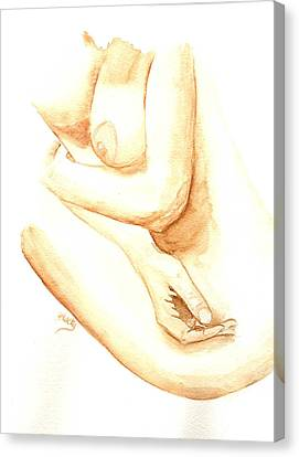 A Woman's Touch Canvas Print by Donna Blackhall