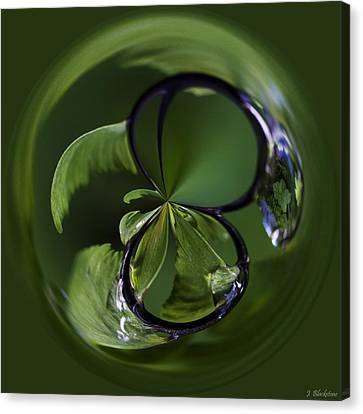 A World Within A Drop Of  Rain - Orb Art Canvas Print by Jordan Blackstone