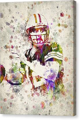 Aaron Rodgers Canvas Print by Aged Pixel