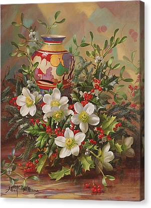 Winter Flowers Canvas Print by Albert Williams