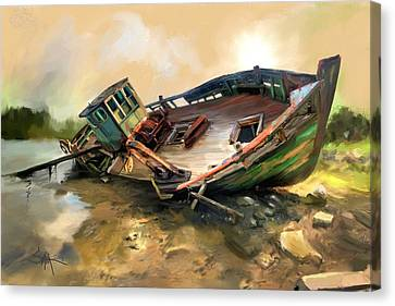 Abandon Boat Canvas Print by Robert Smith
