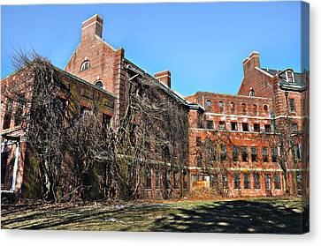 Abandoned Asylum Canvas Print by Bill Cannon