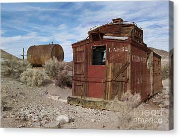 Abandoned Caboose Canvas Print by Juli Scalzi