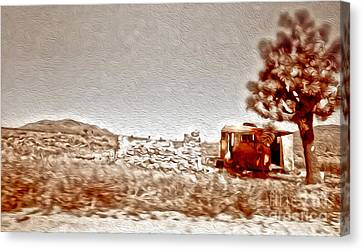 Abandoned Desert Trailer Canvas Print by Gregory Dyer