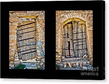Abandoned Diptych Canvas Print by Delphimages Photo Creations