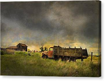 Abandoned Farm Truck Canvas Print by Theresa Tahara