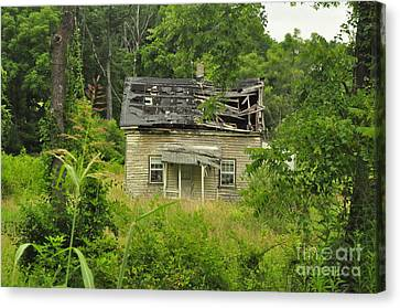 Abandoned House Canvas Print by Mike Baltzgar