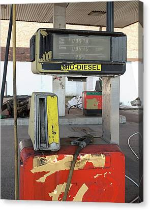 Abandoned Service Station Canvas Print by Robert Brook