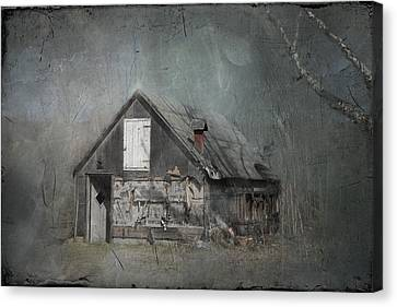 Abandoned Shack On Sugar Island Michigan Canvas Print by Evie Carrier