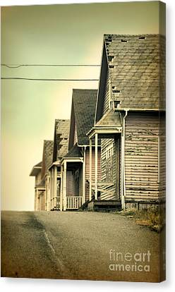 Abandoned Shacks Canvas Print by Jill Battaglia
