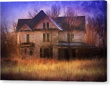 Abandonment At Nightfall Canvas Print by Georgiana Romanovna