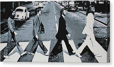 Abbey Road 2013 Canvas Print by Luis Ludzska