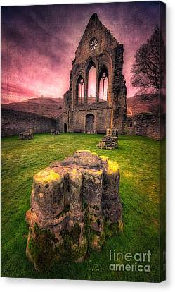 Abbey Ruin Canvas Print by Adrian Evans
