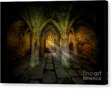Abbey Sunlight Canvas Print by Adrian Evans
