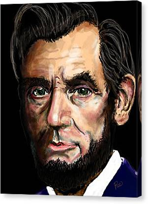 Abe Lincoln Canvas Print by Maria Schaefers