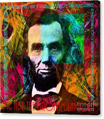Abe The Broham Lincoln 20140217 Canvas Print by Wingsdomain Art and Photography