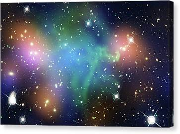 Abell 520 Galaxy Cluster Canvas Print by Nasa, Esa, Cfht, Cxo, M.j. Jee (university Of California, Davis), And A. Mahdavi (san Francisco State University)